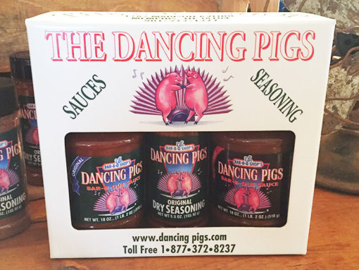 Dancing Pigs Barbecue Sauce & Seasoning Gift Pack